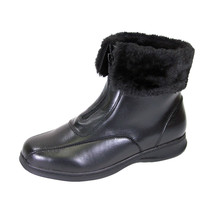 PEERAGE Lana Women Wide Width Leather And Fleece Casual Ankle Boots - $89.95