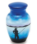 Fisherman 3 Cubic Inches Small/Keepsake Funeral Cremation Urn for Ashes - $49.99