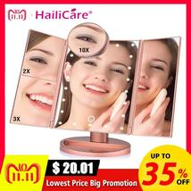 22 LED Touch Screen Makeup Mirror 1X 2X 3X 10X  Magnifying Mirrors 4 in ... - $27.71+