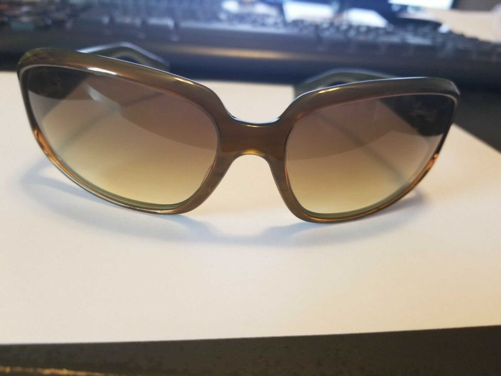 Authentic Oliver Peoples Kirra Tinted Sunglasses Brown Green 63 15-115 ..NEW