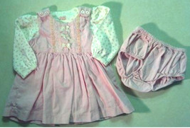 Girl's Sz 3-6 M Months Pink 3 Piece Dress Set Corduroy Children's Place ... - $18.00