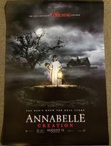 Annabelle Creation 27x40 Double Sided Movie Theater Original Poster Con... - $27.00