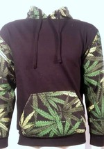 MARIJUANA WEED PRINT SMOKER HIPPIE BLAZE 420 BURN FUNNY SWEATER PULLOVER... - $39.99