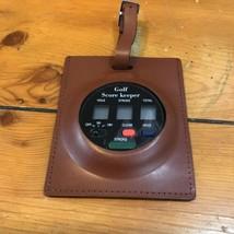VTG Brookstone Electronic Score Keeper Genuine Leather Case - $507,65 MXN