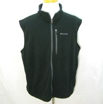 COLUMBIA Mens Black Sleeveless Zipper Front Micro-Fleece Vest Jacket (Si... - $14.95