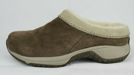 Merrell Encore chill stitch women's brown suede fleece lined clogs size 7 - $26.78