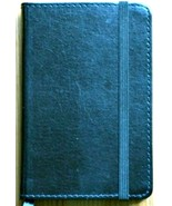 Journal European Bonded Leather C R Gibson Markings Navy Book RULED Pages - $16.33
