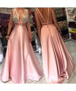 Hot Selling Cut Low Deep V Neck Sheer Long Prom Dresses Evening Dress fo... - $156.99+