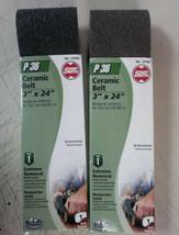 "2 PACK Shopsmith Ceramic Bi-Directional Sanding Belt P36 3"" x 24"" 12530 ... - $18.58"
