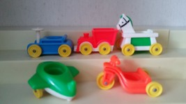 VINTAGE Fisher Price Little People RIDING TOYS 5 PCS - $5.94