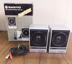 Sanyo Speakers Mini System - MSP-10A in Box WORKS Sportster - $12.73