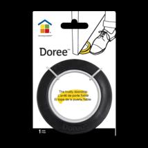 Doree Black Door Stop, black round,rubber & plastic 3.5 in diameter SEALED-NEW image 1