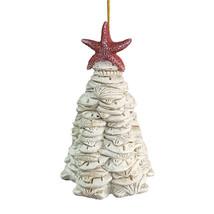 "3.5"" RESIN SEA SHELL SAND DOLLAR CHRISTMAS TREE NAUTICAL COASTAL XMAS OR... - $9.88"