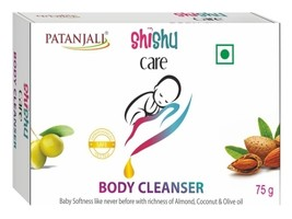 PATANJALI SHISHU CARE BODY CLEANSER/Bar Soap - Baby Soap -  (75GM) - $9.99