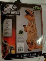RUBIE'S JURASSIC WORLD T-REX INFLATABLE HALLOWEEN COSTUME ONE SIZE KIDS - $52.40