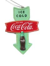 Coca-Cola Wood Arrow Sign Christmas Ornament - $9.41