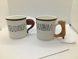 Vintage Lefton Coffee GRNDMA/GRNDPA MUGS  Antique Boot Handle #3758/ 59 ... - $35.63