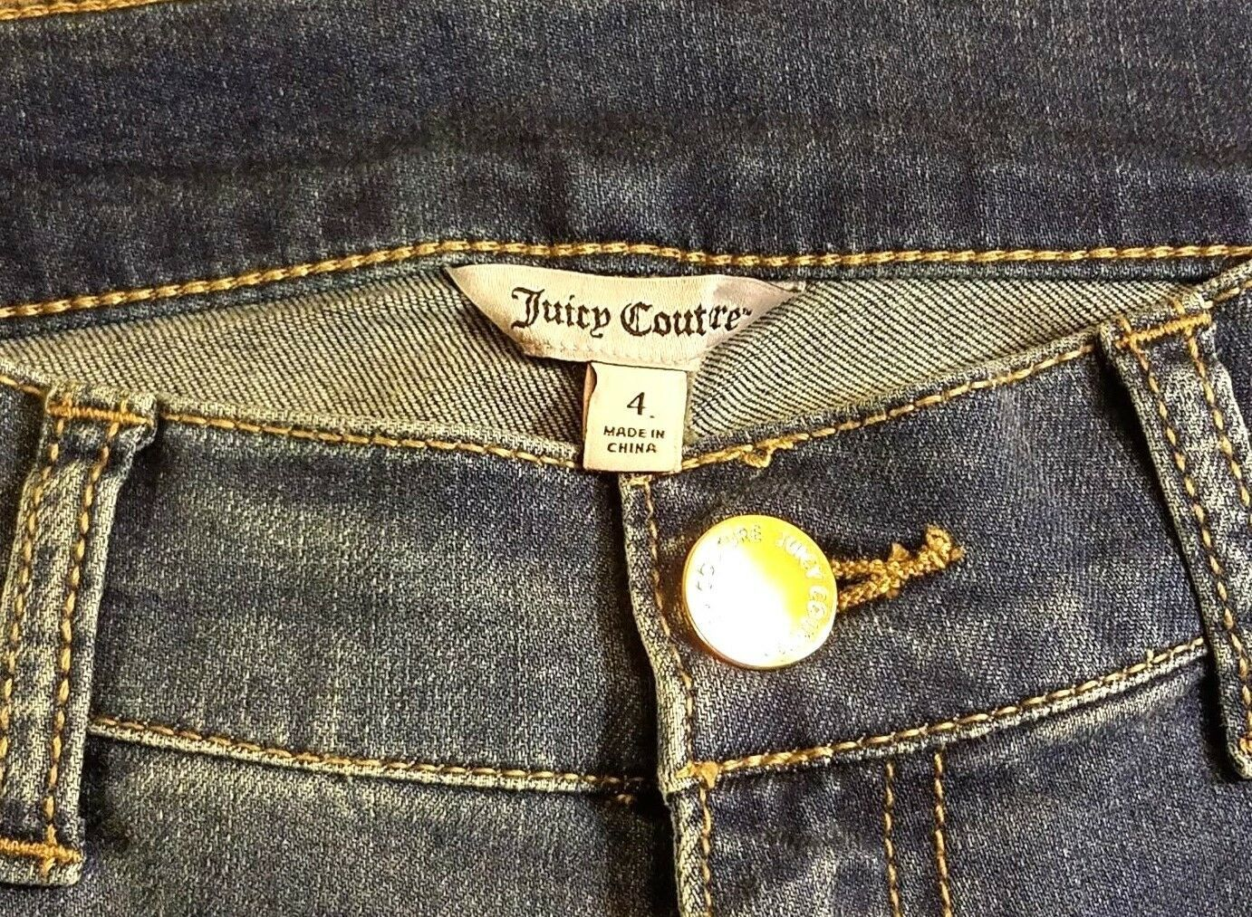 Nwt Juicy Couture Rolle Manschette Denim Röhrenjeans - Dunkle Waschung - Us 4 image 3