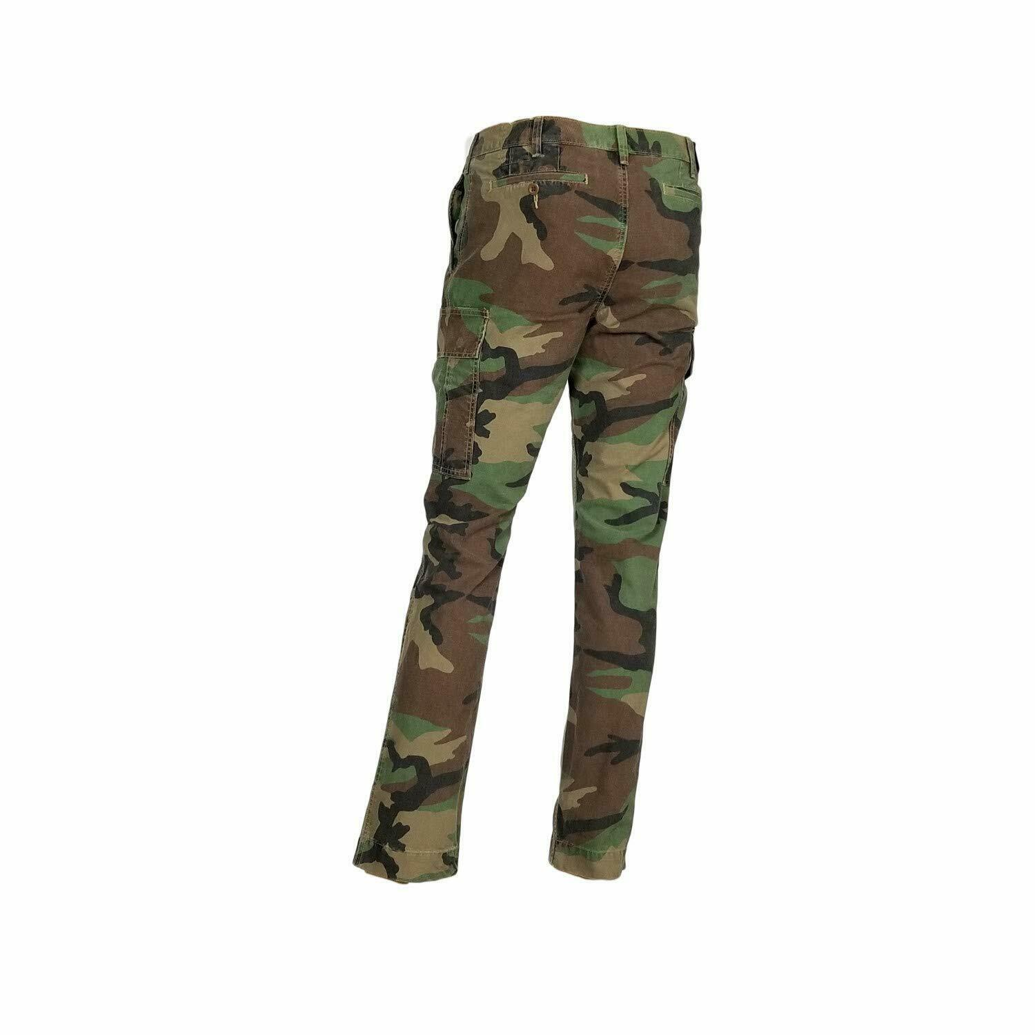 New Ralph Lauren Polo Mens Stretch Slim Fit Camouflage Pant 35x32 Green - $98.95