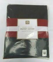 Pottery Barn PB Teen Blue Red Rugby Stripe FULL QUEEN Duvet Cover New NIP - $72.99