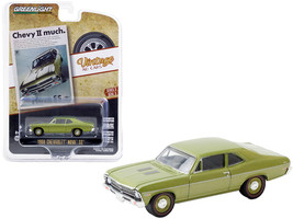 1968 Chevrolet Nova SS Green Metallic Chevy II Much Vintage Ad Cars Series 3 1/6 - $14.69