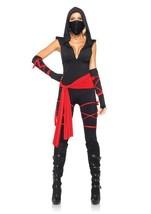 Leg Avenue Deadly Ninja Mono Catsuit Sexy Halloween Mujer Disfraz Adulto 85087 - $47.43