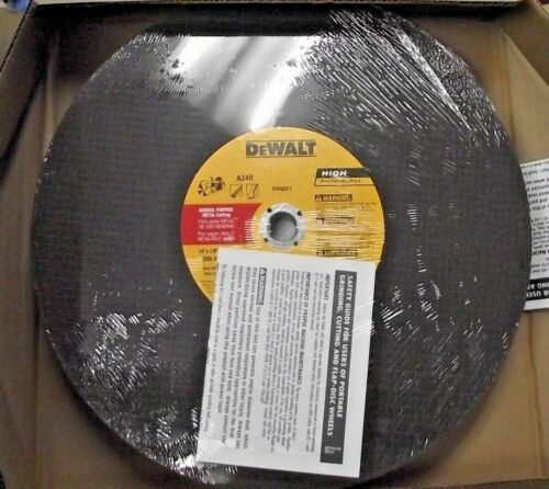 "Dewalt DW8021L 14"" x 1/8"" x 20mm High-Performance AO Cut-Off Blade 5 Pack - $19.80"