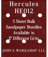 HERCULES HE012 - 1/4 Sheet - 17 Grits - No-Slip - 5 Sandpaper Bulk Bundles - $7.14