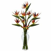 "Luxury Multicolor Birds of Paradise in Vase - 19"" - $192.53"