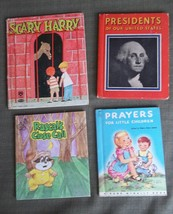 4 Books Fuzzy Wuzzy Scary Harry Presidents to FDR Prayers  For Little Ch... - $19.79