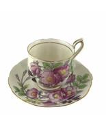 Vintage Royal Albert England Dog Rose Floral Cup & Saucer Set Bone China England - $20.26