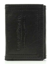 NEW LEVI'S MEN'S PREMIUM LEATHER CREDIT CARD ID WALLET TRIFOLD BLACK 31LP1122 image 1