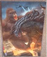 King Kong vs Godzilla Glossy Art Print 11 x 17 In Hard Plastic Sleeve - $24.99