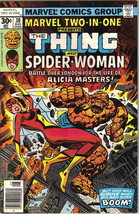 Marvel Two-In-One Comic Book #30 The Thing and Spider-Woman Marvel 1977 VERY GD- - $4.50