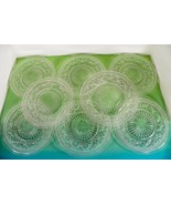 Imperial Glass CAPE COD Clear 1 Luncheon 7 Salad Plate (s) LOT OF 8 - $44.50