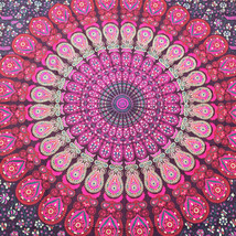 Indian Cotton Mandala Tapestry Bohemian Wall Hanging Bedspread Bedcover ... - $26.01+