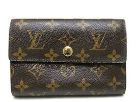 LOUIS VUITTON M60047 Used Excellent Portefeuille Alexandra Tri-Fold Wall... - $463.13