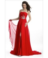 Stunning Sexy Silk Beaded One Strap Pageant Prom Gown, Prima Donna 5581 - $634.99
