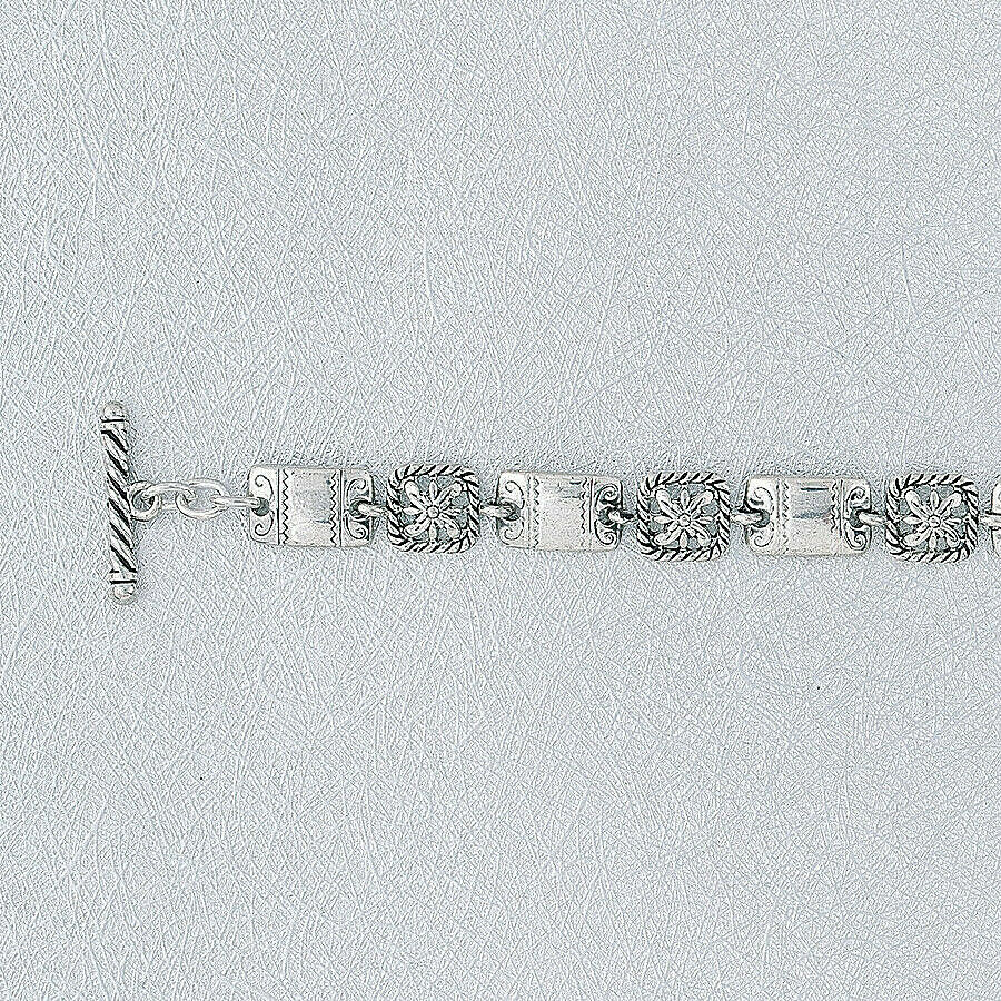 Primary image for Boutique 10mm Bracelet Antique Silver NEW