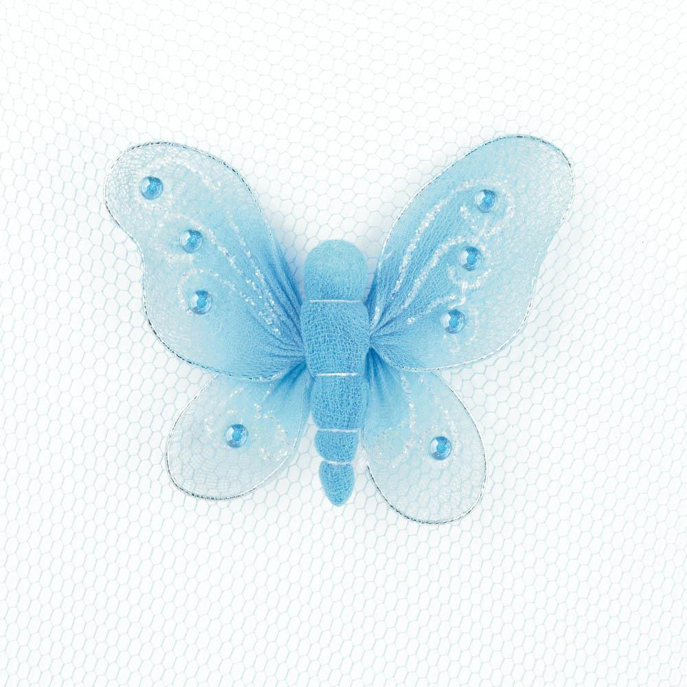 Bed Canopy - Butterfly - Blue
