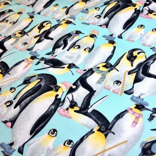 Penguin Family fabric by Ladyfingers Studio for Andover Fabrics 100% Cotton