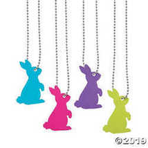 Bunny Cutout Dog Tag Necklaces - $7.74