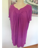 Just My Size Womens Top 4X 26/28 Purple Shirt Plus Size Gals  - $14.99