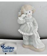 Kalique Sleepy Head Porcelain Girl Figurine - $20.56