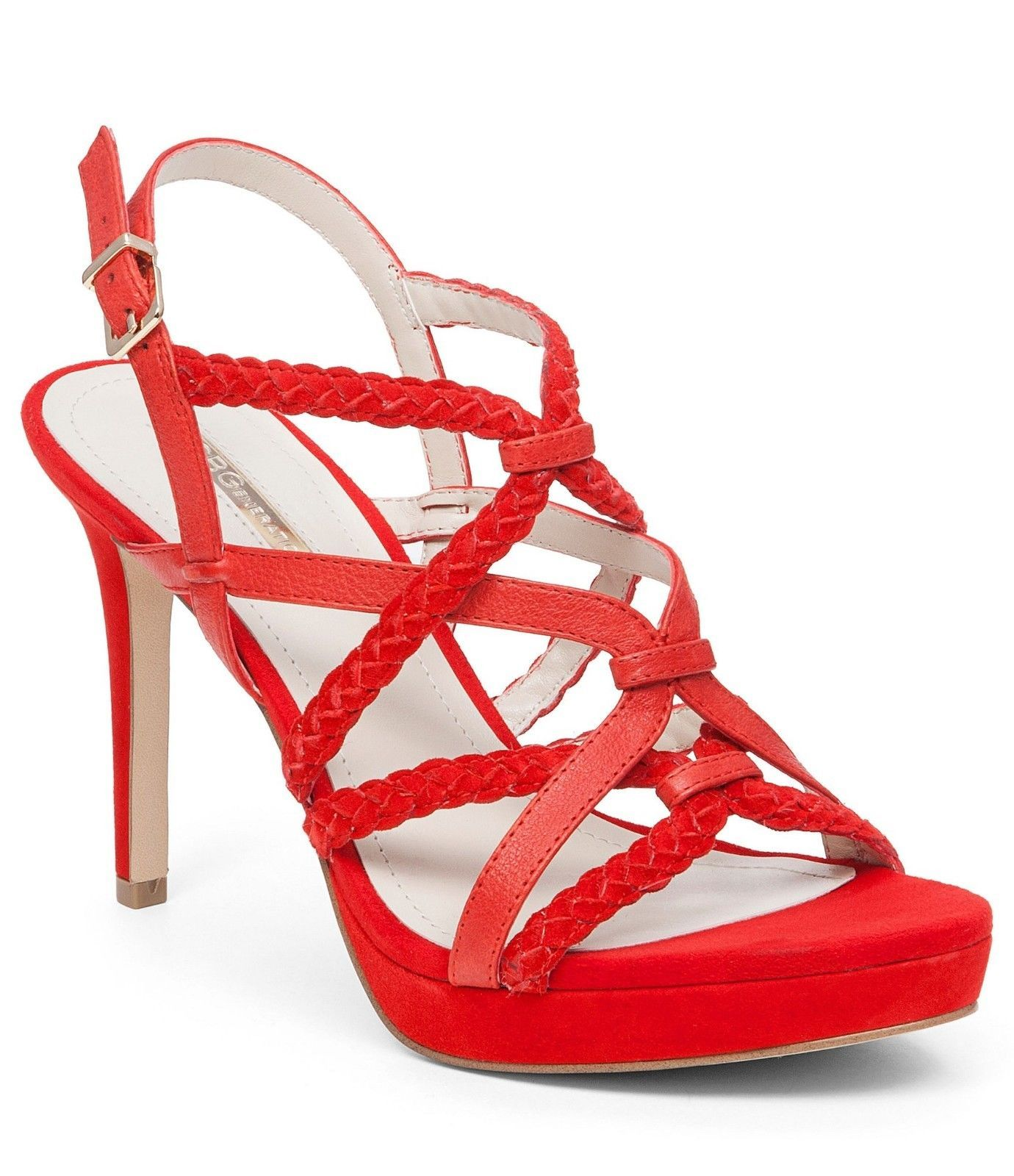 Primary image for Women BCBGeneration Emmi High Heel Strappy Sandals, BG-EMMI Candy Red Sizes 6-9
