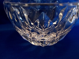 "Kosta bowl in fine Swedish crystal in tear drop design 4 1/2""diameter 2 3/4""deep - $49.90"