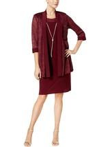 NEW RM RICHARDS RED NECKLACE JACKET DRESS SIZE 16 W 18 W 20 W WOMEN $139 - $37.99+