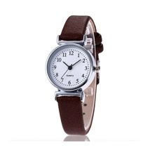 New Luxury Brand Women Watch Ultra Thin Vintage Leather Band Quartz Watch Fashio image 2