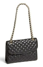 Nwt Rebecca Minkoff Quilted Affair Leather Flap Shoulder Bag Black Authentic - $268.00