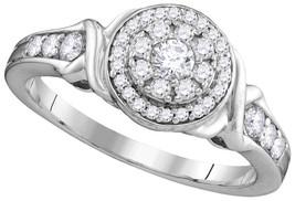 10k White Gold Round Diamond Solitaire Bridal Wedding Engagement Ring 1/... - $629.00